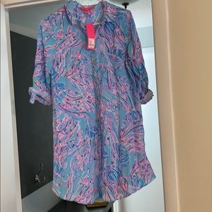 Lilly Pulitzer Natalie Cover up in Bayside Blue
